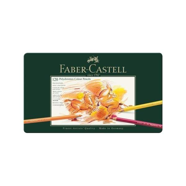 RAYART - Crayon de Couleur Polychromos, boîte Métal de 120 - Faber Castell