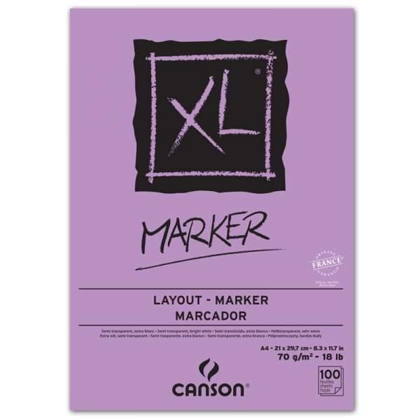 RAYART - Canson XL Marker A4 100 feuilles 70g/m²