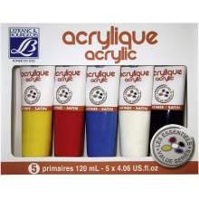 Set de 5 Peinture acrylique 120 ml  Lefranc & Bourgeois