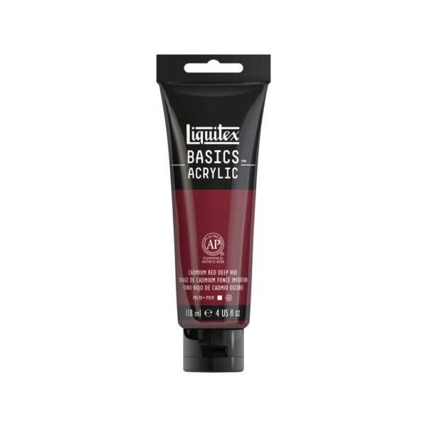 Liquitex Basics Acrylique Tube 118ml Rouge Cadmium Foncé 311