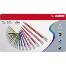 RAYART - Crayon de couleur pastels Boîte métal de 36 crayons  STABILO CarbOthello