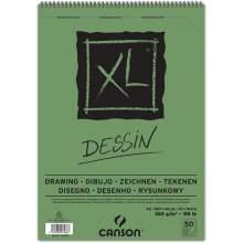 RAYART - Album Dessin XL Grain léger A3 160 g/m², 50 F  Blanc 29.7 x 42 cm - Canson