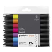 RAYART - Set Promarker Brush 12+1 tons Vibrant - Winsor & Newton