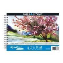Bloc Papier Aquarelle Lisse A5 300 g 12F Aquafine  Daler Rowney