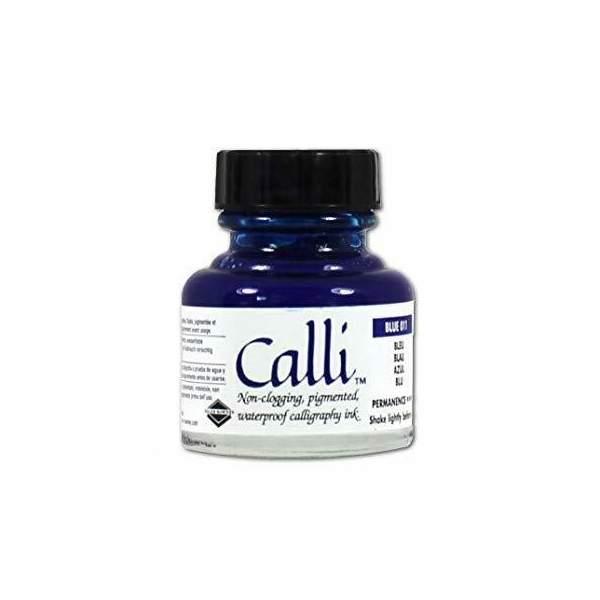 RAYART - Encre de calligraphie bleu 29.5 ml Daler-Rowney Calli