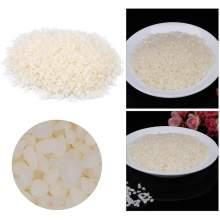 RAYART - Cire d'Abeille Blanche Naturelle Granule 50g à Qualité Comestible pour Bougie et Matériaux de Cosmétique