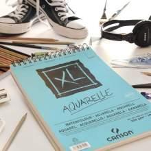 RAYART - Album Papier Aquarelle XL A5 300G/M² 20 Feuilles - Canson