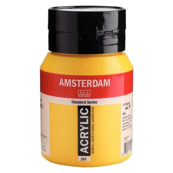 RAYART - Amsterdam Standard Series Acrylique Pot 500 ml Jaune azo moyen 269