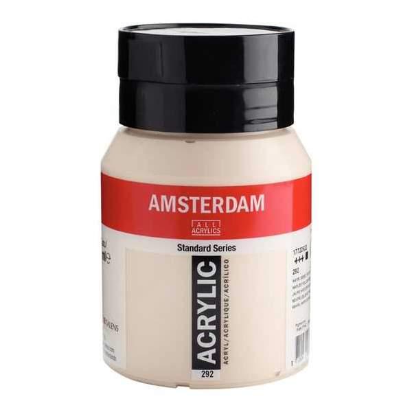Amsterdam Standard Series Acrylique Pot 500 ml Jaune Naples rouge clair 292