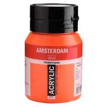 RAYART - Amsterdam Standard Series Acrylique Pot 500 ml Vermillon 311