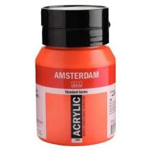 RAYART - Amsterdam Standard Series Acrylique Pot 500 ml Rouge naphtol clair 398