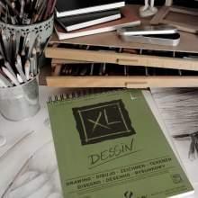 RAYART - Album Dessin XL Grain léger A4 160 g/m², 50 F  Blanc 21 x 29.7 cm - Canson