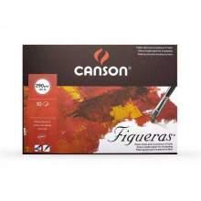 RAYART - Bloc Figueras 33X41 cm 10F Grain toile 290G - Canson