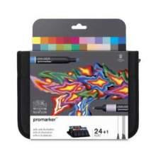 RAYART - Set de 24+1 Promarker Arts et illustration - Winsor & Newton