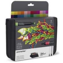 RAYART - Set de 24+1 Promarker Assortiment Etudiant Designer- Winsor & Newton