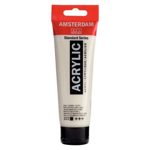 RAYART - Amsterdam Standard Series Acrylique Tube 120 ml Jaune de Naples clair 222