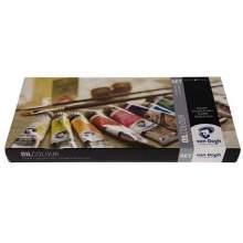 RAYART - Ensemble de base couleurs à l'huile avec 10 * 20 ml + Accessoires - VAN GOGH