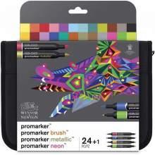 RAYART - Set de 24+1 Promarker Assortiment Mixed Marker- Winsor & Newton