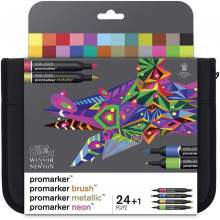 Set de 24+1 Promarker Assortiment Mixed Marker- Winsor & Newton