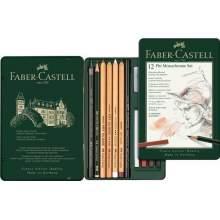 RAYART - Ensemble Pitt Monochrome, boîte de 12 Faber Castell