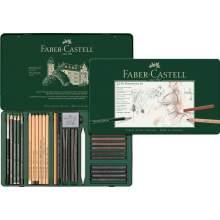 RAYART - Ensemble Pitt Monochrome, boîte de 33 Faber Castell