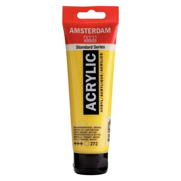 RAYART - Amsterdam Standard Series Acrylique Tube 120 ml Jaune transparent vert 272
