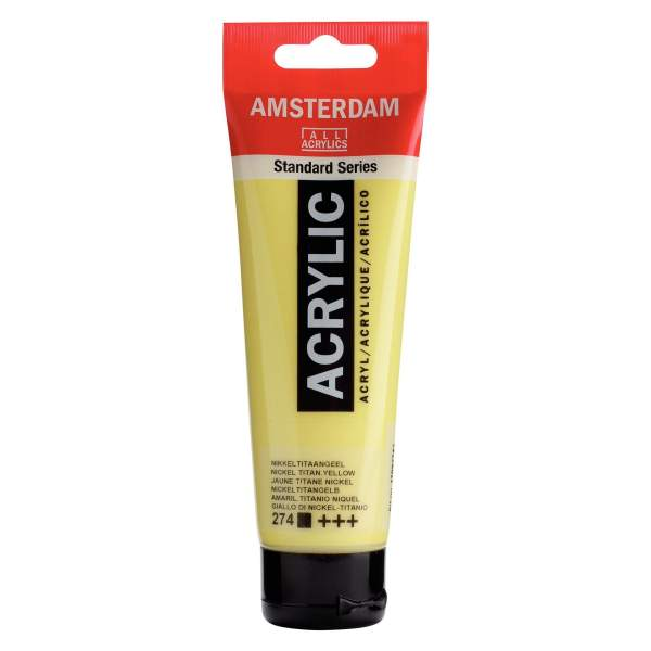 RAYART - Amsterdam Standard Series Acrylique Tube 120 ml Jaune titane nickel 274