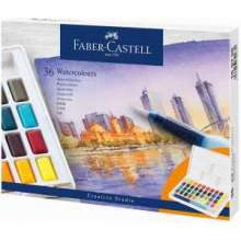 RAYART - Aquarelles en godets, boîte de 36 Faber Castell