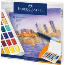 RAYART - Aquarelles en godets, boîte de 48 Faber Castell