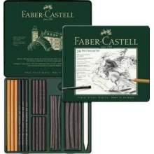 RAYART - Ensemble Pitt Charcoal, boîte de 24 Faber castell