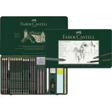 RAYART - Ensemble Pitt Monochrome, boîte de 21 Faber Castell
