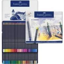 RAYART - Boite métal de 48 Crayon aquarelle Goldfaber Aqua - Faber Castell