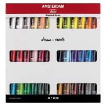 RAYART - Set d'acryliques série Standard 36 x 20 ml Amsterdam