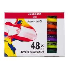 RAYART - Set d'acryliques série Standard 48 x 20 ml Amsterdam