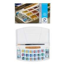 RAYART - Ensemble de peinture aquarelle avec 18 couleurs en godets et 2 couleurs en tube de 10 ml, VAN GOGH