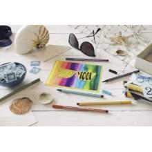 RAYART - Pen 68 Boîte métal Feutre à dessin 20 feutres pointe moyenne décor Premium Coloris assortis STABILO