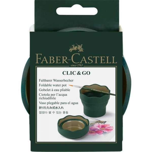 RAYART - Tasse à eau Clic & Go, vert foncé - Faber castell