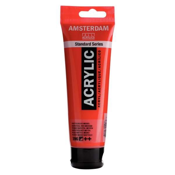 RAYART - Amsterdam Standard Series Acrylique Tube 120 ml Rouge naphtol moyen 396