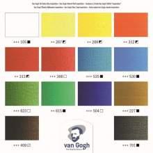 RAYART - Ensemble Inspiration couleurs à l'huile dans une boîte en bois, avec 14 couleurs en tubes de 40 ml + accessoires. VAN G