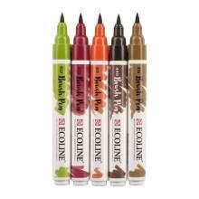 RAYART - feutre aquarelle avec 5 Brush Pens - Automne Ecoline
