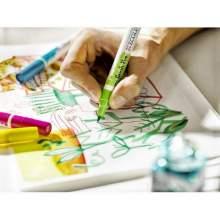 RAYART - feutre aquarelle avec 5 Brush Pens - Bleu Ecoline