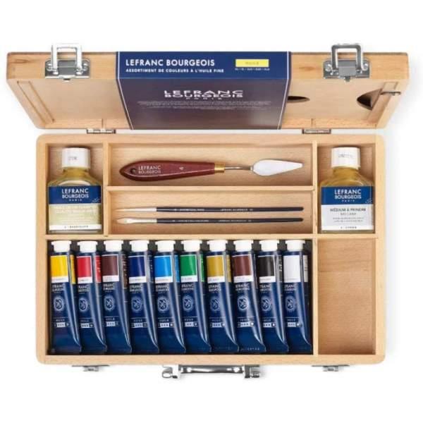 RAYART - Coffret Peinture à l'Huile Fine 10X40ml Lefranc & Bourgeois