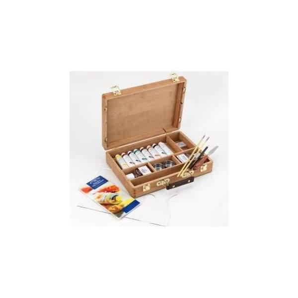RAYART - Coffret bambou de couleur à l'huile pour artistes - Ensemble de tubes Winsor & Newton