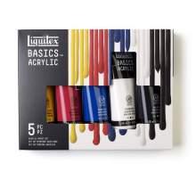 RAYART - Set de 5 tubes 118ml Peinture Acrylique Liquitex
