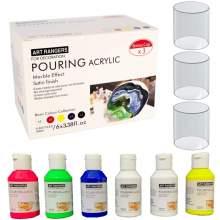 Set Pouring Acrylique couleur fluorescent 6 tubes*100ml Art Ranger