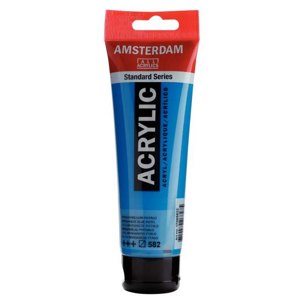 RAYART - Amsterdam Standard Series Acrylique Tube 120 ml Bleu manganèse phtalo 582