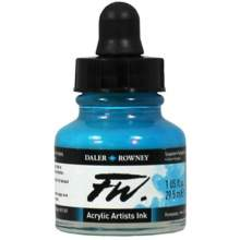 RAYART - Encre acrylique FW turqoise 29.5 ml Daler Rowney