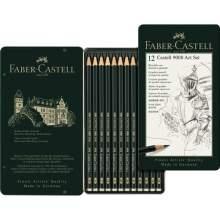 RAYART - Crayon graphite Castell 9000, Art Set, boîte de 12 - Faber Castell