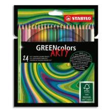 RAYART - Etui carton 24 Crayons de couleur GREENcolors ARTY STABILO