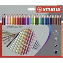RAYART - Crayon de couleur de 36 Aquarellable Assorties - Stabilo